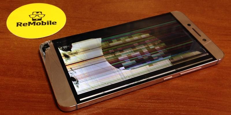 Не работает сенсор и разноцветные полоски на экране