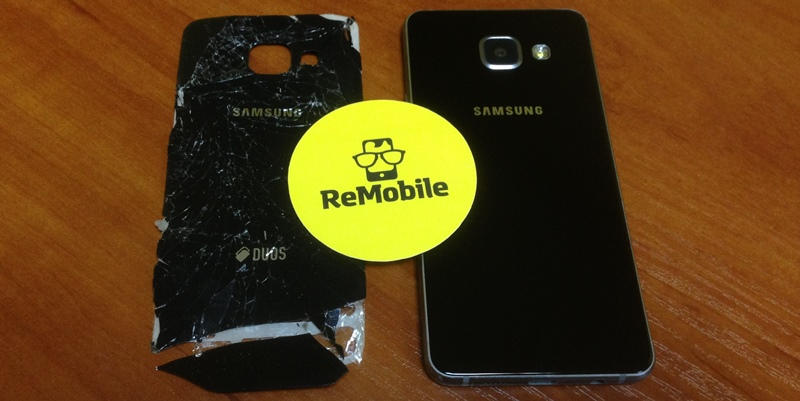 Замена заднего стекла крышки корпуса Samsung A